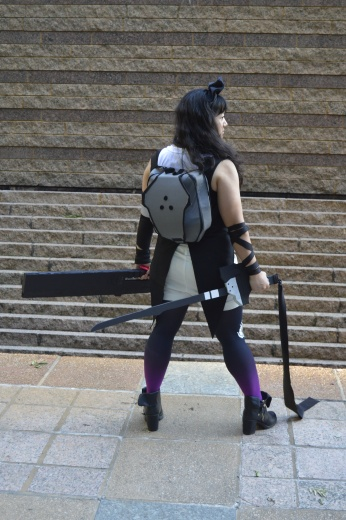 Showing off the backpack. Photo credit to Lindsey Tonak at RTX 2015.