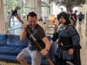 With Miles Luna, writer and director of RWBY